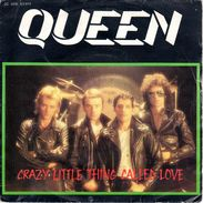 """COLLECTION  DISQUE VINYLE 45 T - QUEEN """"crazy Little Thing Called Love"""" """"we Will Rock You"""" - 1979 - Hard Rock & Metal"""
