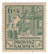 (I.B) Germany Revenue : Saxony Wiederaufbau 10pf (reconstruction) - Germany