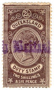 (I.B) Australia - Queensland Revenue : Stamp Duty 2/6d (colour Error) - Australia