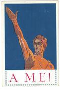 CARTOLINA PUBBLICITARIA  A ME PARTITO NAZIONALE FASCISTA  ILLUSTRATORE SACCHETTI - Advertising