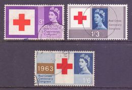 GB Scott 398/400 - SG642/644, 1963 Red Cross Set Used - 1952-.... (Elizabeth II)