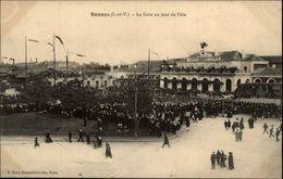 35 - RENNES - Gare Un Jour De Fête - Rennes