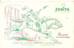 Buvard ZENITH Buvard Offert Par La Lampe ZENITH à AIX EN PROVENCE Cow-Boy - Electricité & Gaz