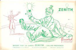 Buvard ZENITH Buvard Offert Par La Lampe ZENITH à AIX EN PROVENCE Un Clown - Electricité & Gaz