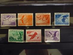 LICHTENSTEIN LUCHTPOST 17/23  Xx ( YVERT ) COTE : 45 EURO ( B ) - Air Post