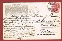 St Severin  Sterstempel Relais Aankomstempel Op Kaart Düren 1912 - Storia Postale
