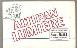 Buvard ALTIPAN LUMIERE Toute La Photographie André MAIRE 17, Rue Jeanne D'Arc à Orléans - P