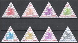 Monaco 1980. Scott #J65-J72 (MNH) Knight In Armor * - Portomarken