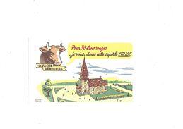 Buvard  Fromage  La Vache Sérieuse - Buvards, Protège-cahiers Illustrés