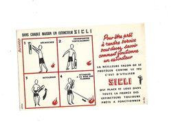 Buvard   Extincteur Sicli - Buvards, Protège-cahiers Illustrés