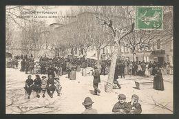 AUBENAS - Le Champs De Mars - Le Marché -voyagée 1911 - Aubenas