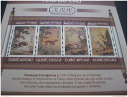 Guniea Bissau 2017 Lunar New Year Of Dog   Art Painting - Postzegels