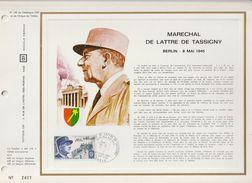 N 135 DU CATALOGUE CEF - N° 2401/19500 - MARÉCHAL DE LATTRE DE TASSIGNY - BERLIN 8 MAI 1945 - 1970 - PREMIER JOUR - Frankreich