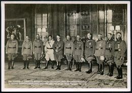 DEUTSCHES REICH (LOTHRINGEN) 1940 (13.8.) Französ. 6eck-St.: HABOUDANGE/MOSELLE Weiterverwendet Auf S/w.-Foto-Propaganda - Stamps