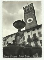 BASSANO DEL GRAPPA - FONTANA BONAGURO E TORRE CIVICA  VIAGGIATA  FG - Vicenza