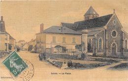 SAINTS - La Place - (carte Toilée) - Autres Communes