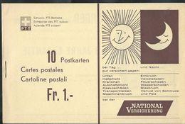 Carnet De 10 Cartes Neuves N° 195 PKH - 12  ( National Versicherung(soleil-lune) - Machine à Coudre PFAFF) - Stamped Stationery