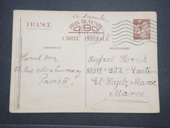 FRANCE - Entier Postal Type Iris De Paris Pour El Hajeb En 1940 - L 9957 - Entiers Postaux