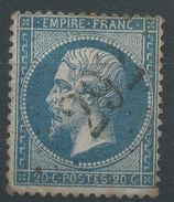 Lot N°38779   Variété/n°22, Oblit GC 292 Bains-du-Mont-d'Or (62), Ind 5, Tache Blanche Embriquement NORD OUEST - 1862 Napoleon III