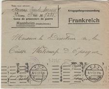WW1 - Lettre D Un Prisonnier De Guerre Du Camp De MANNHEIM -  L  2345 - Storia Postale