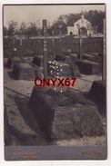 PHOTO CARTONNEE 16,5 X 10,5 -Cimetière Militaire-Friedhof-VARSOVIE-WARSZAWA-Pologne-Polen-Polska-poland-Foto Karolicki - Orte