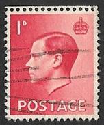 Timbre De Grande-Bretagne 1936     '    Yvert  N° 206  '    Edouard VIII,  1 P. Rose-rouge - Used Stamps