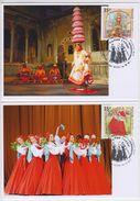 2497-98 Mih 2279-80 Russia KM Cards Maximum 2017 10 1 Folk Dances Joint Issue India Russia Beryozka Dance Indian Bhavai - Maximumkarten