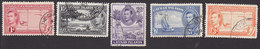 Cayman Islands, Scott #102-106, Used, George VI And Scenes Of Cayman Is, Issued 1938 - Kaimaninseln