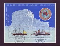 Germania 2001 - Esplorazioni In Antartico, BF56, Con Annullo Rotondo - [7] Repubblica Federale