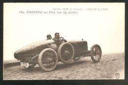 184. FAGNANO Sur Fiat, Vue3/4 Arrière -- Grand Prix De L'A C F - Circuit De Lyon -- Pilote Automobile - VOITURE - Ansichtskarten