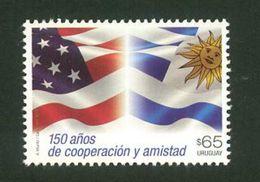 URUGUAY-2017  -150a. De Cooperación Y Amistad.TT: Banderas,Soles, Estrellas - Sellos