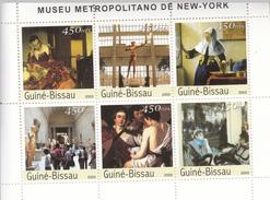 2003 Guine Guinea Bissau  New York Met Art Museum Complete Set Of 2 Sheets MNH   FRACTION OF FACE VALUE - Musées