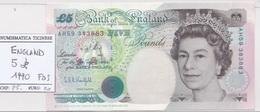 5  POUNDS 1990  ENGLAND  - UNC  - - 1952-… : Elizabeth II