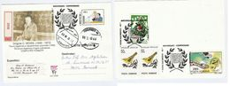 Romania  MOISIL MATHEMATICS COMPUTER Mentions MARCONI Registered UPRATED STATIONERY CARD Bird Snake Stamp Telecom Cover - Computers