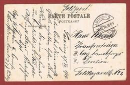 Zichtkaart Seraing  Portvrije Feldpost Verstuurd Met Gewone Post Lüttich 2 Hauptbahnhof 28/12/1914  // 2 Scan - WW I