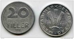 Hongrie Hungary 20 Filler 1982 KM 573 - Hongrie