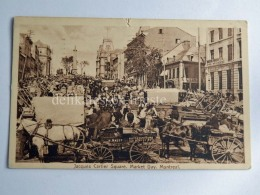 CANADA MONTREAL Montréal Market Day Jacques Cartier Square Old Postcard - Montreal