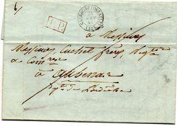 Hérault - LAC Du 24 Août 1843 En Port Payé - Càd Type 15 Clermont (Hérault) - Marcofilie (Brieven)