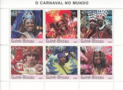 2003 Guine Guinea Bissau  Carnaval Festivals Costumes Dance  Souvenir Sheet MNH   FRACTION OF FACE VALUE - Costumes