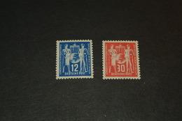 K12665- Set MNH  -1 Stamp Smal Spot Of Gumdisturbance From Sticking Paper-DDR - GDR 1 950- SC.49-50- Int. Postal Workers - DDR