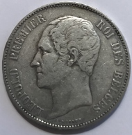 Pièce Monnaie. Belgique. Leopold I 1865. Argent 25gr.  - 37 Mm - Monedas
