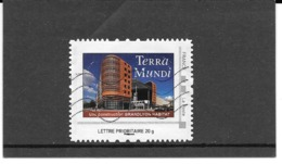 """FRANCE TIMBRE COLLECTOR MONTIMBRAMOI OBLITERE """" TERRA MUNDI. LETTRE PRIORITAIRE 20 G  IDT PHILAPOSTE - France"""
