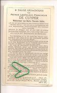 PETRUS- LEOPOLD - FRANCISCUS DE CUYPER  BRUGGE 1853 Aldaar Overleden In 1933. Weduwnaar Van MARIA SABBE. - Images Religieuses