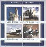 2003 Guine Guinea Bissau Space Shuttle Challenger 2 Souvenir Sheets MNH   FRACTION OF FACE VALUE - Afrique
