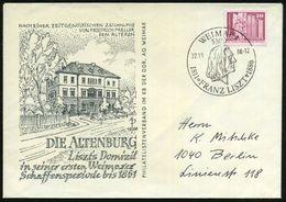5300 WEIMAR 1/ 1811 FRANZ LISZT 1886 1986 (22.10.) SSt = Kopfbild Liszt , Klar Gest. Inl.-SU.: DIE ALTENBURG Liszts Domi - Stamps