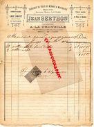 63- A LA CROUZILLE PAR MONTAIGUT EN COMBRAILLE- FACTURE JEAN BERTHON-LAVILLE- FABRIQUE TOILE DE MENAGE ET MOUCHOIRS-1900 - Textile & Vestimentaire