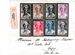 Brief Met Serie 411/418 - Entiers Postaux