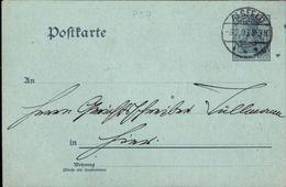 ! 2 Pfennig Germania Ganzsache Mit Privatzudruck Vogelsberger Höhenklub, Alsfeld, 1903, Deutsches Reich - Germany