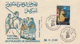 Enveloppe  FDC  1er  Jour   MAROC   Festival   National   Du   Folklore   De   MARRAKECH   1975 - Marocco (1956-...)