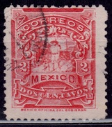 Mexico, 1895, Letter Carrier, 2c, Sc#243, Used - Mexico